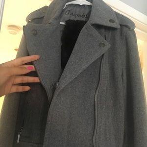 Gray thick zippered jacket/blazer